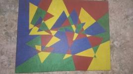 Tri Tri Again Painting
